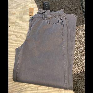 AE blue sateen pants sz 16